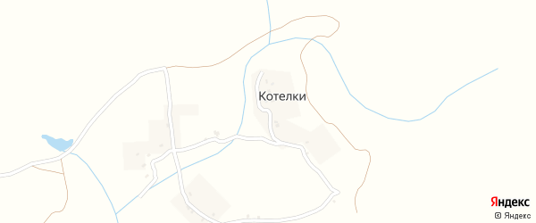 Лесная улица на карте деревни Котелки с номерами домов
