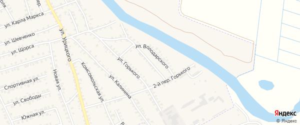 Переулок 3-й Горького на карте поселка Погара с номерами домов