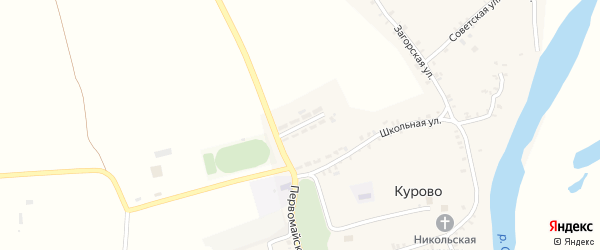 Улица Победы на карте села Курово с номерами домов