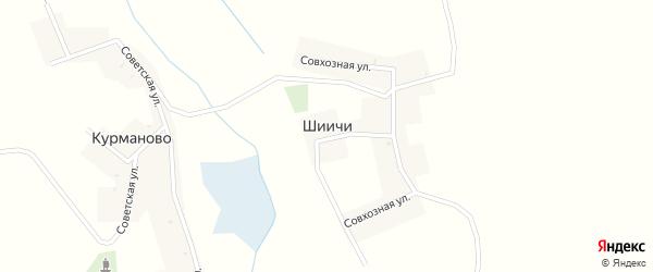 Поселковая улица на карте деревни Шиичей с номерами домов