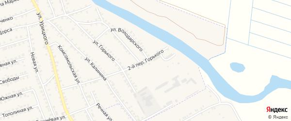 Переулок 2-й Горького на карте поселка Погара с номерами домов