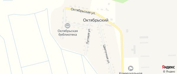 Луговая улица на карте Октябрьского поселка с номерами домов