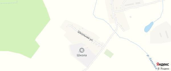 Школьная улица на карте деревни Николаевки с номерами домов