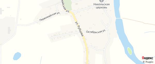 Октябрьская улица на карте села Курово с номерами домов