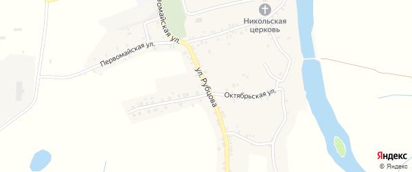 Улица Рубцова на карте села Курово с номерами домов