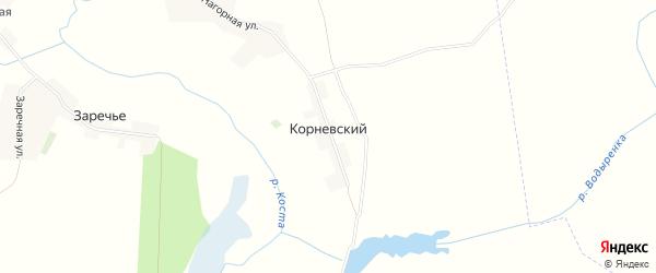 Карта Корневского поселка в Брянской области с улицами и номерами домов