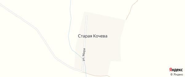 Улица Мира на карте деревни Старая Кочева с номерами домов