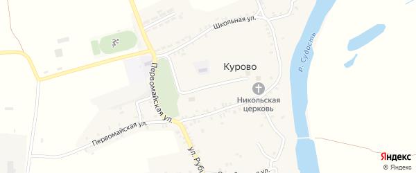 Первомайский переулок на карте села Курово с номерами домов