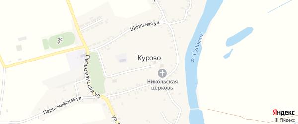 Пролетарская улица на карте села Курово с номерами домов