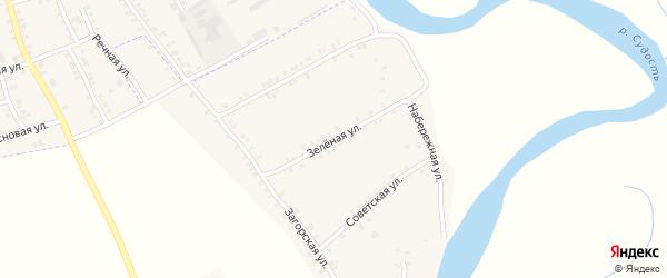 Зеленая улица на карте села Курово с номерами домов