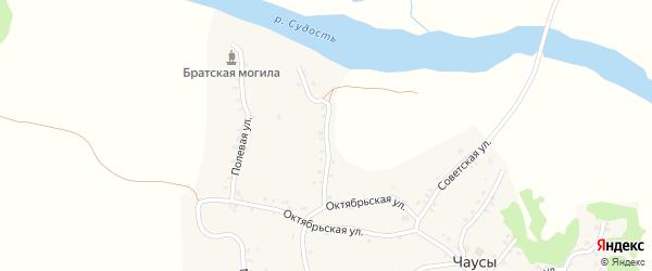 Пролетарская улица на карте села Чаус с номерами домов