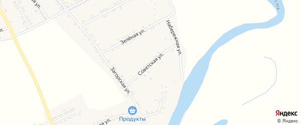 Советская улица на карте села Курово с номерами домов