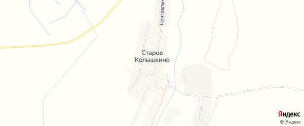 Карта деревни Старое Колышкино в Брянской области с улицами и номерами домов