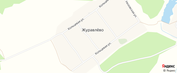 Промежуточный переулок на карте деревни Журавлево с номерами домов