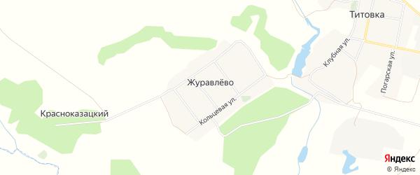 Карта деревни Журавлево в Брянской области с улицами и номерами домов