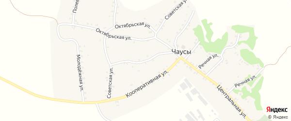 Советская улица на карте села Чаус с номерами домов