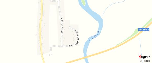 Переулок Марии Попел на карте села Курово с номерами домов