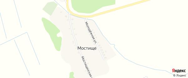 Молодежная улица на карте поселка Мостища с номерами домов