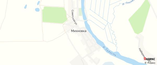 Карта деревни Михновки в Брянской области с улицами и номерами домов