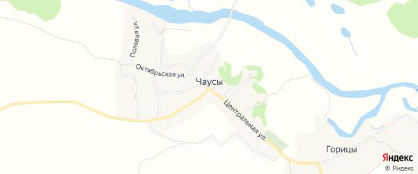 Карта села Чаус в Брянской области с улицами и номерами домов