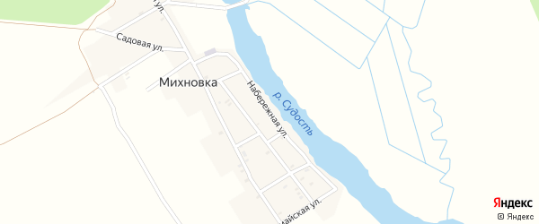 Набережная улица на карте деревни Михновки с номерами домов