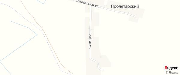 Зеленая улица на карте Пролетарского поселка с номерами домов