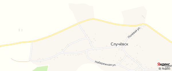 6-й Первомайский на карте села Случевска с номерами домов