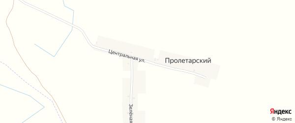 Центральная улица на карте Пролетарского поселка с номерами домов