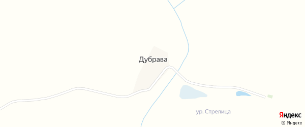 Лесная улица на карте поселка Дубравы с номерами домов