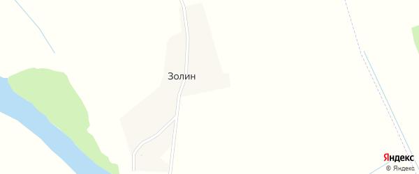 Лесная улица на карте поселка Золина с номерами домов
