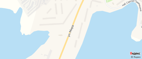 Улица Мира на карте Гаджиево с номерами домов