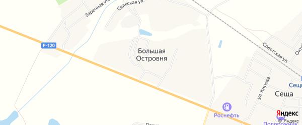 Карта деревни Кутца в Брянской области с улицами и номерами домов