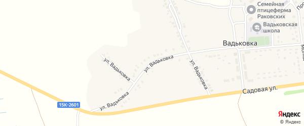 Улица Вадьковка на карте деревни Вадьковки с номерами домов