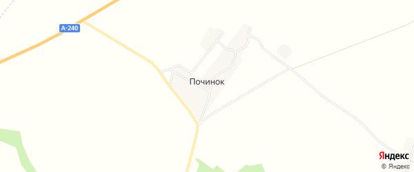 Карта деревни Починка в Брянской области с улицами и номерами домов