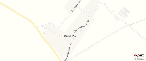 Починковская улица на карте деревни Починка с номерами домов
