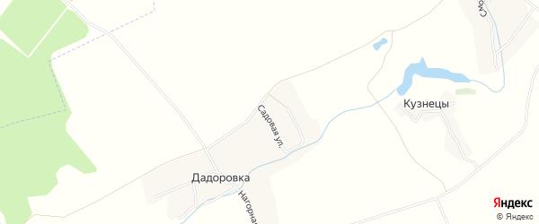 Карта деревни Дадоровки в Брянской области с улицами и номерами домов