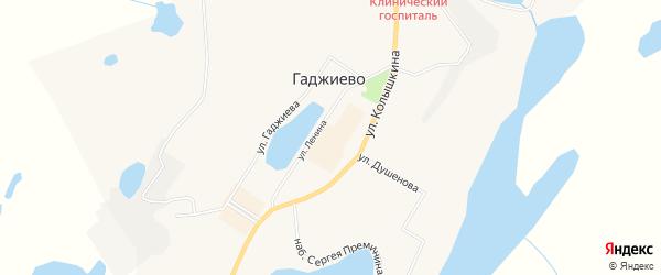 Карта населенного пункта Сайды-Губы города Гаджиево в Мурманской области с улицами и номерами домов