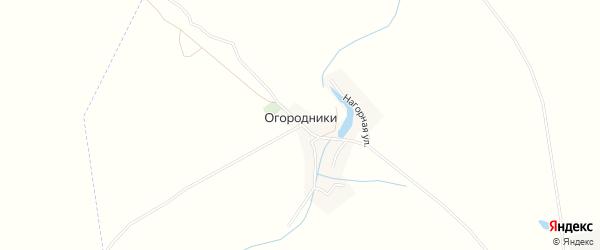 Карта деревни Огородники в Брянской области с улицами и номерами домов