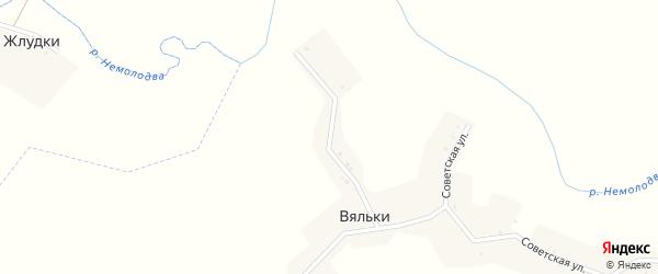 Нагорная улица на карте деревни Вяльки с номерами домов
