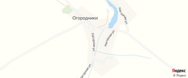 Нагорная улица на карте деревни Огородники с номерами домов