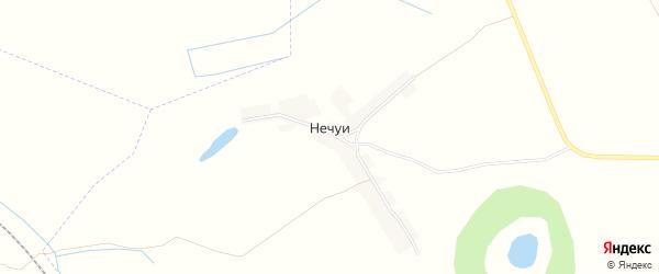 Карта поселка Нечуи в Брянской области с улицами и номерами домов