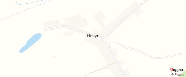 Лесная улица на карте поселка Нечуи с номерами домов
