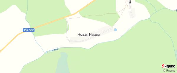 Карта деревни Новой Надвы в Брянской области с улицами и номерами домов