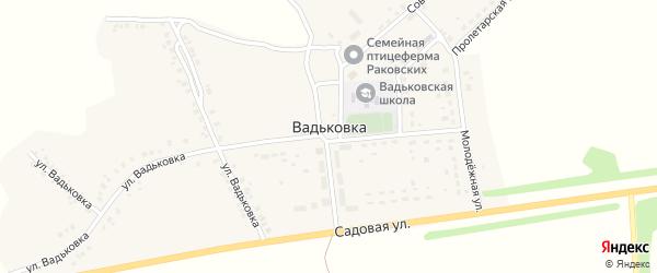 Заречная улица на карте деревни Вадьковки с номерами домов