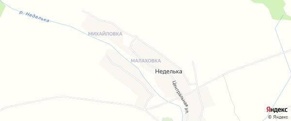 Карта деревни Малаховки в Брянской области с улицами и номерами домов