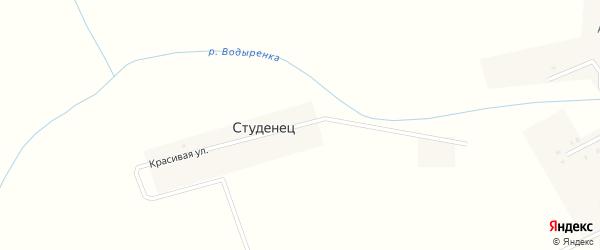 Красивая улица на карте поселка Студенца с номерами домов
