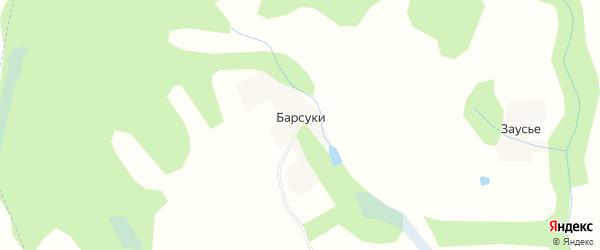 Карта поселка Барсуки в Брянской области с улицами и номерами домов