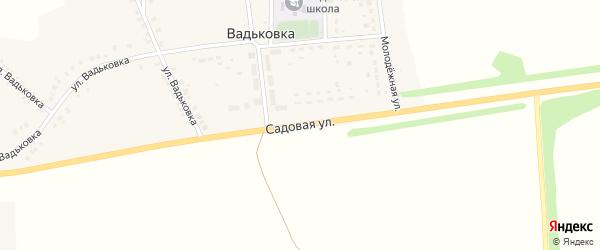 Садовая улица на карте деревни Вадьковки с номерами домов