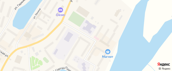 Улица Душенова на карте Гаджиево с номерами домов