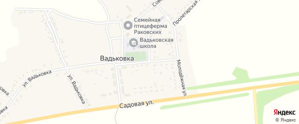 Комсомольская улица на карте деревни Вадьковки с номерами домов